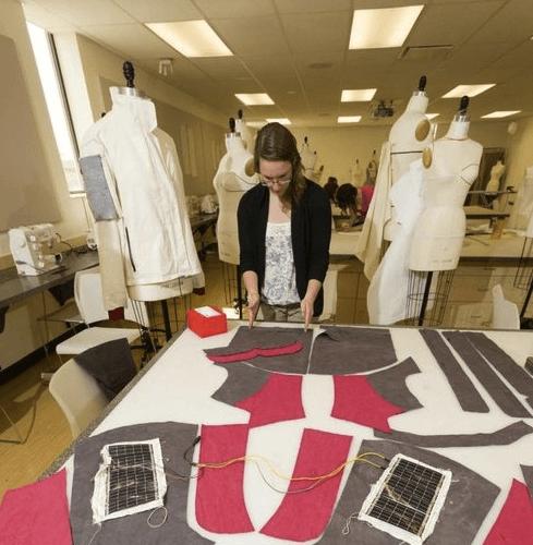 Одежда с вставками солнечных элементов