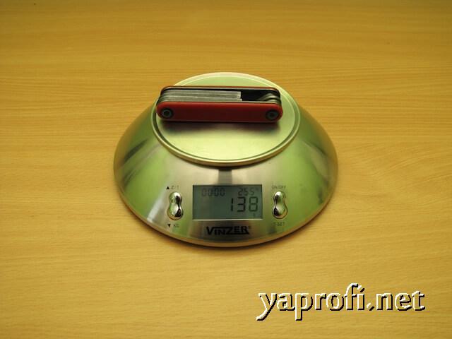 138 грамм - масса мультитула БайкХэнд
