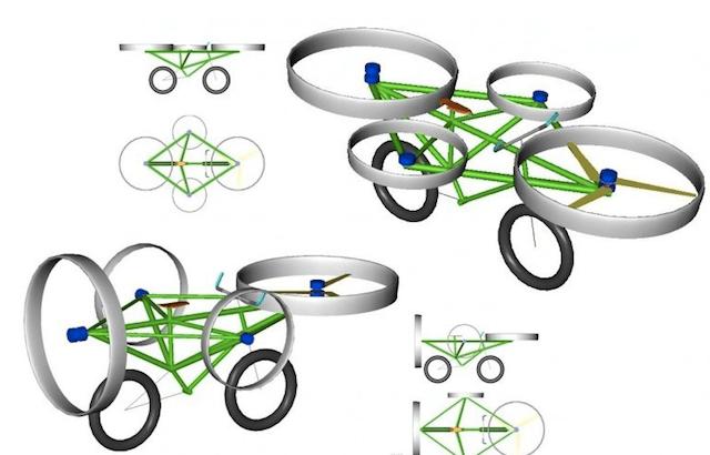 Летающий велосипед от чешских инженеров