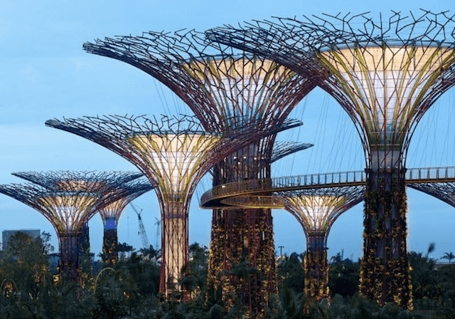 уникальный сад в Сингапуре