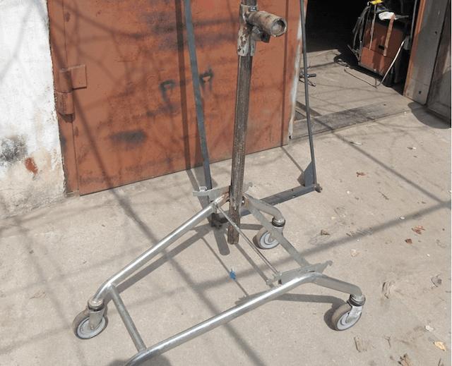 Велосипедная стойка на базе тележки из супермаркета