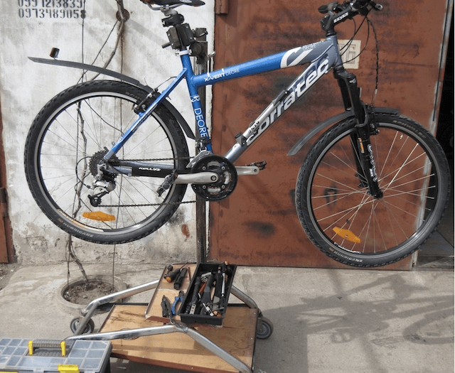 Испытания велосипедной стойки