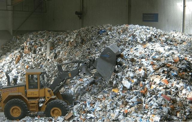Вторичное сырье на переработке
