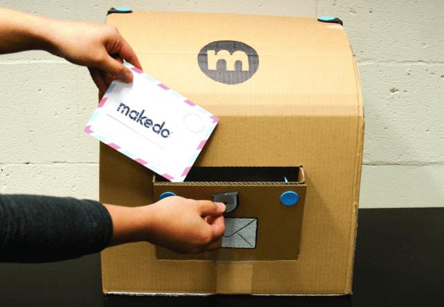 Почтовый ящик из картона