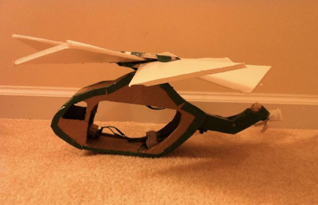 Вертолет из картона