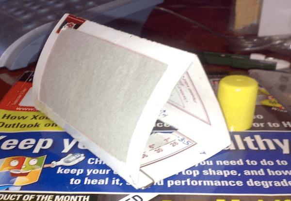 Дефлектор для вспышки из пластиковой карты