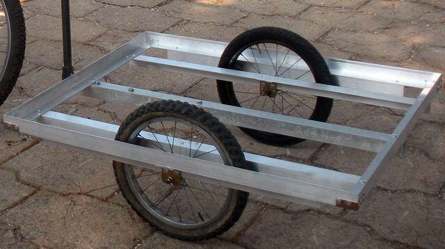 Как сделать прицеп на велосипед своими руками без сварки