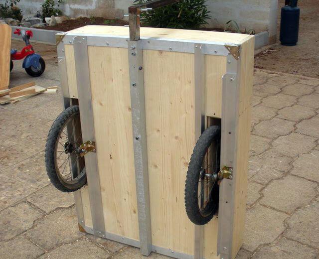 Как сделать деревянный прицеп для велосипеда своими руками 91