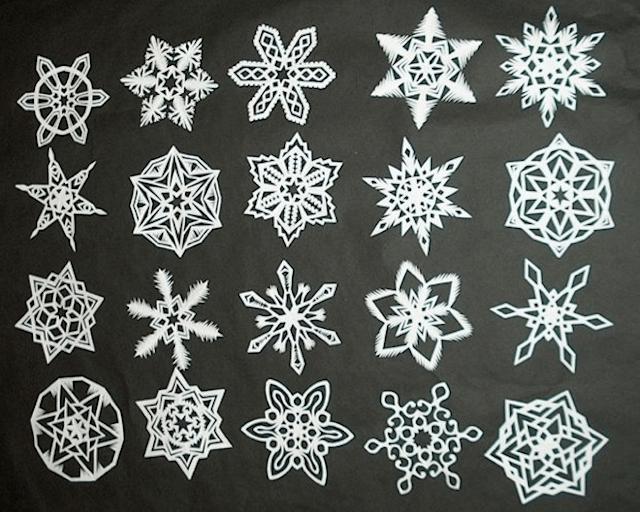 Примеры узоров снежинок