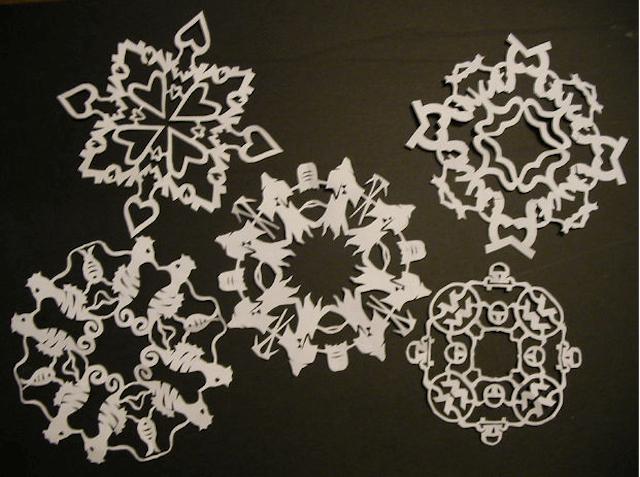 Примеры изготовления снежинок
