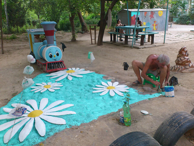 Красивое покрытие для детской площадки