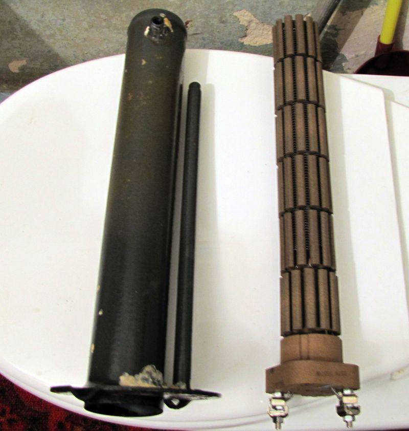 Сухой ТЭН - металлическая колба и сам нагревательный элемент