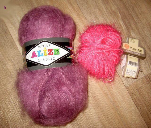 Нитки для вязания тапочек