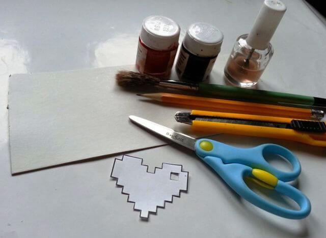 Материалы для создания сердечка