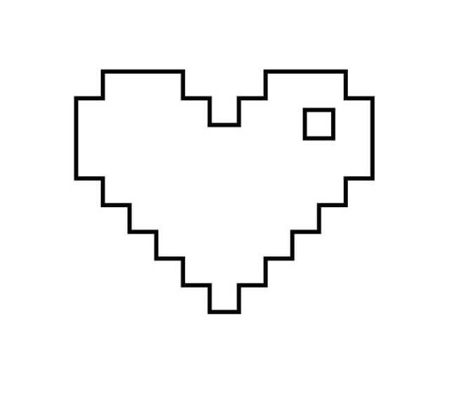 Шаблон пиксельного сердечка
