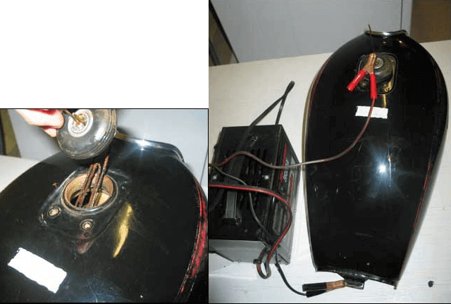 Очистка бензобака электролизом