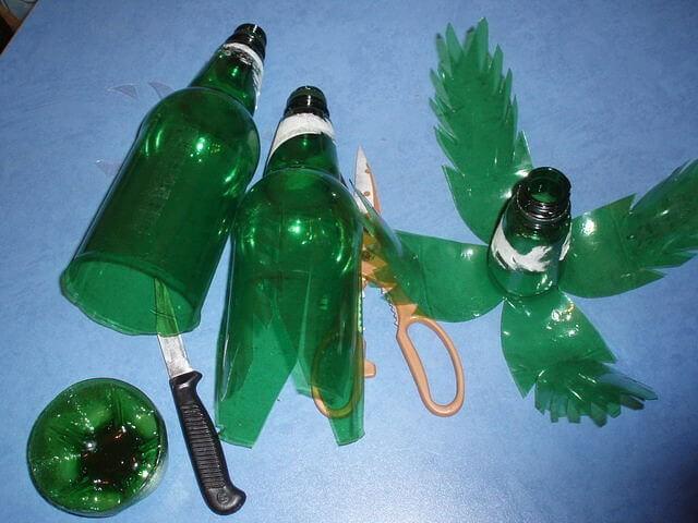 Пальма из пластмассовых бутылок пошагово 59