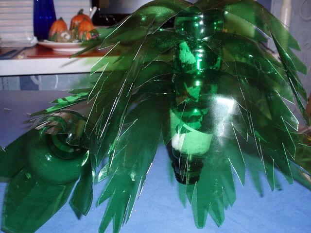 Пальма из пластмассовых бутылок пошагово 94
